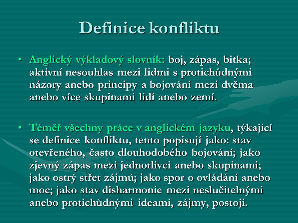 Definice konfliktu