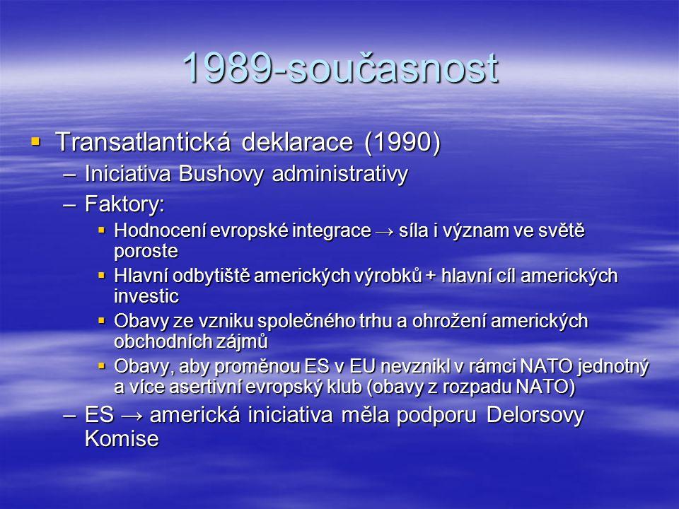 1989-současnost Transatlantická deklarace (1990)