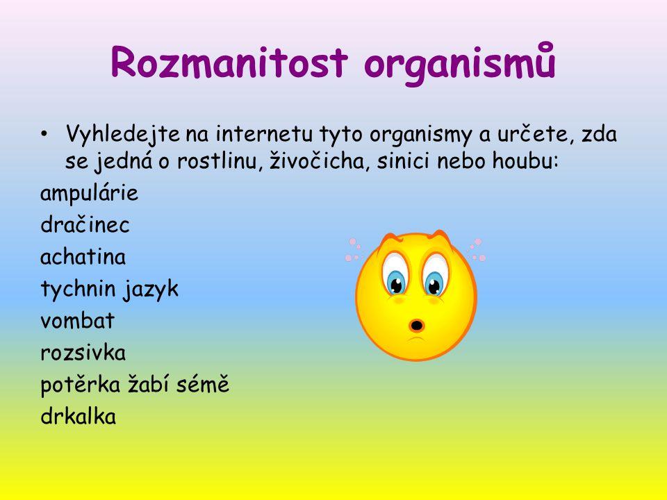 Rozmanitost organismů
