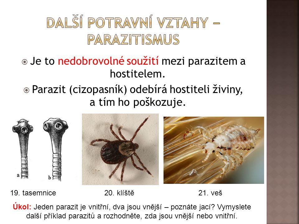 Další Potravní vztahy − parazitismus