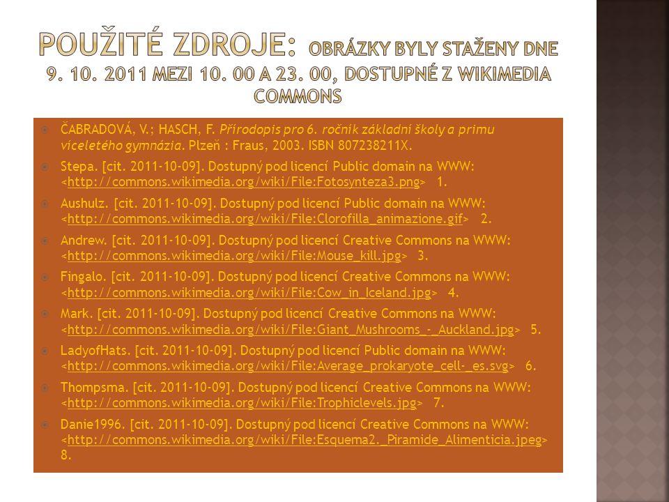Použité zdroje: Obrázky byly staženy dne 9. 10. 2011 mezi 10. 00 a 23