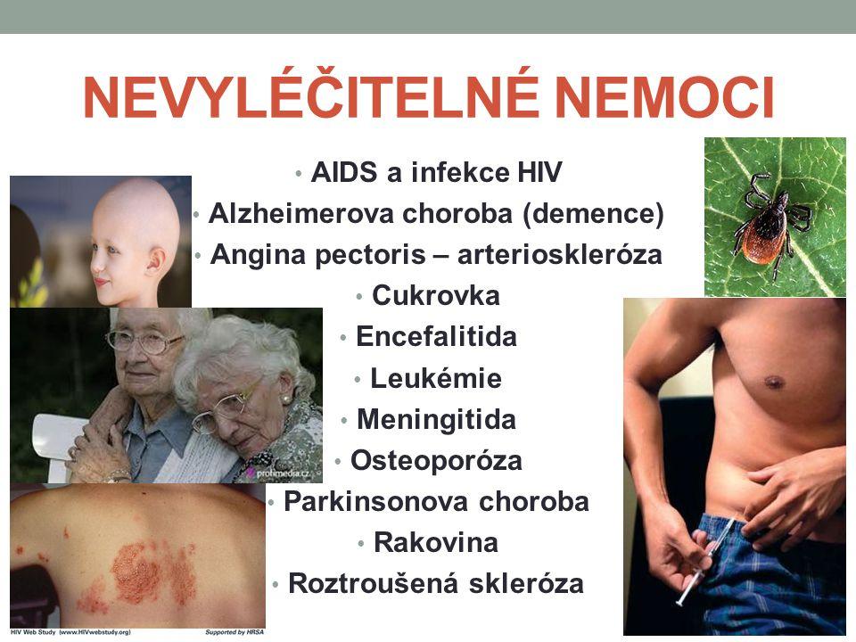 Alzheimerova choroba (demence) Angina pectoris – arterioskleróza
