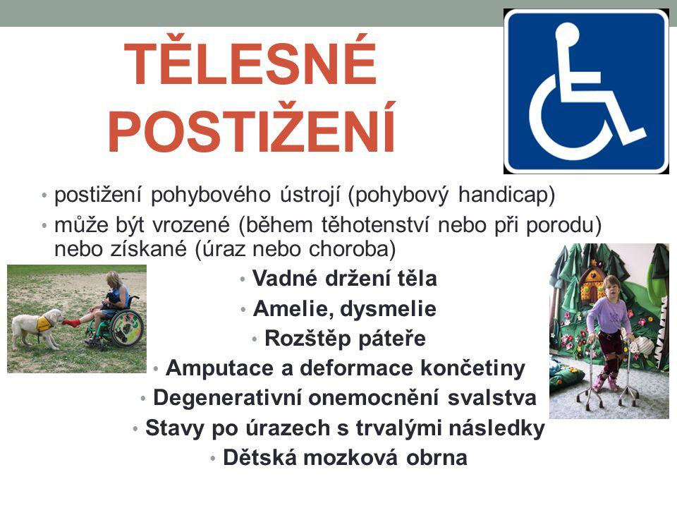 TĚLESNÉ POSTIŽENÍ postižení pohybového ústrojí (pohybový handicap)