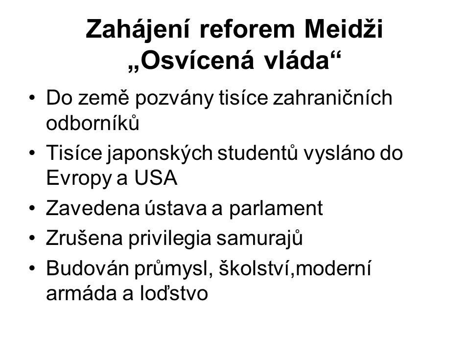 """Zahájení reforem Meidži """"Osvícená vláda"""