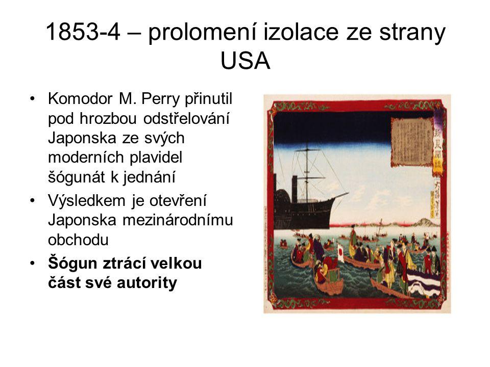 1853-4 – prolomení izolace ze strany USA