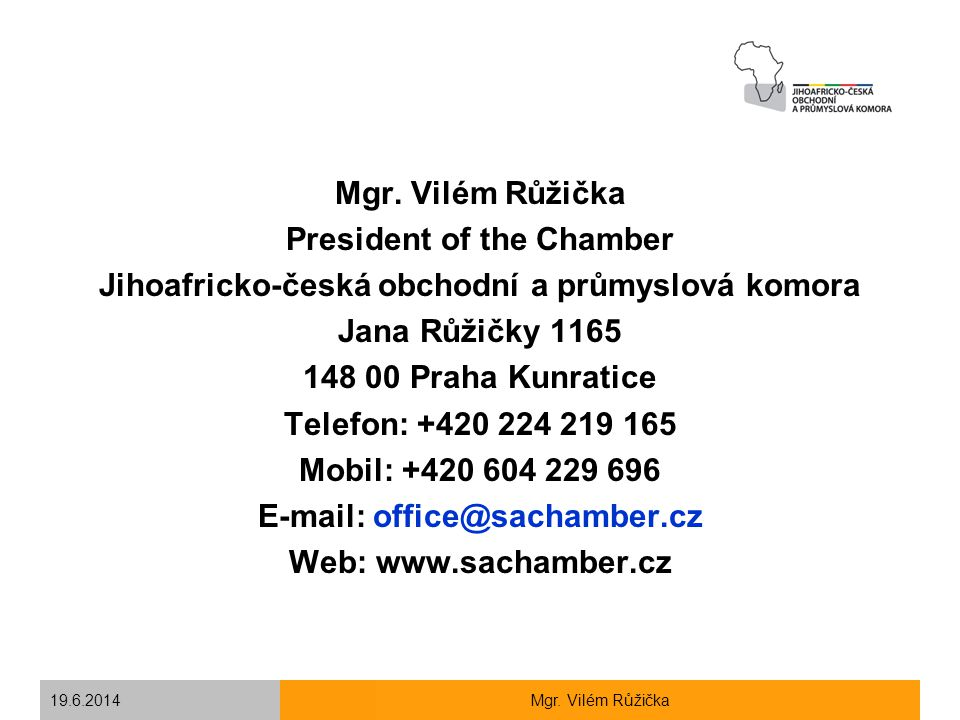 President of the Chamber