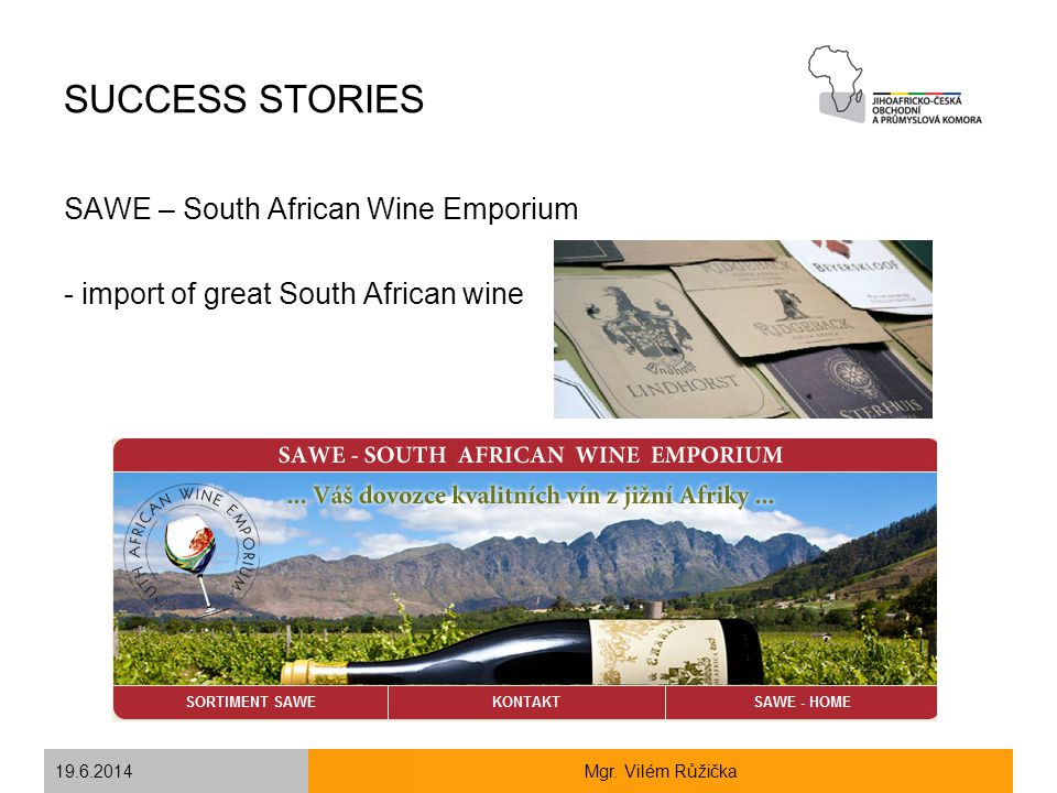 SUCCESS STORIES SAWE – South African Wine Emporium