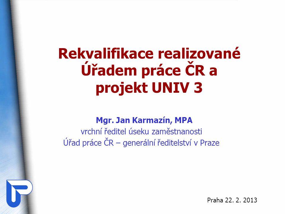 Rekvalifikace realizované Úřadem práce ČR a projekt UNIV 3