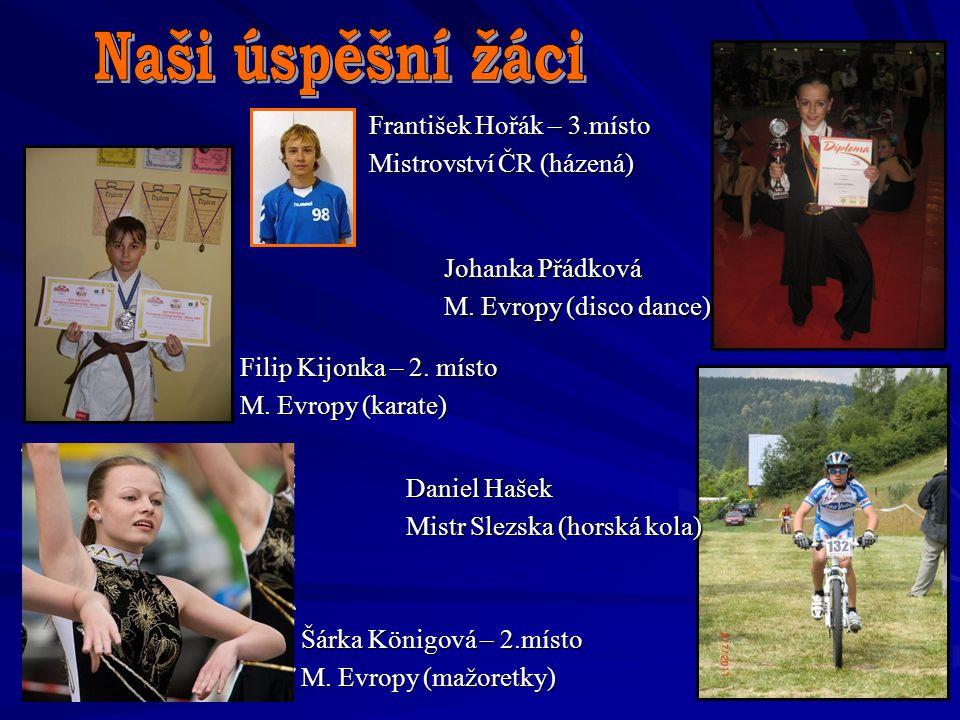 Naši úspěšní žáci František Hořák – 3.místo Mistrovství ČR (házená)