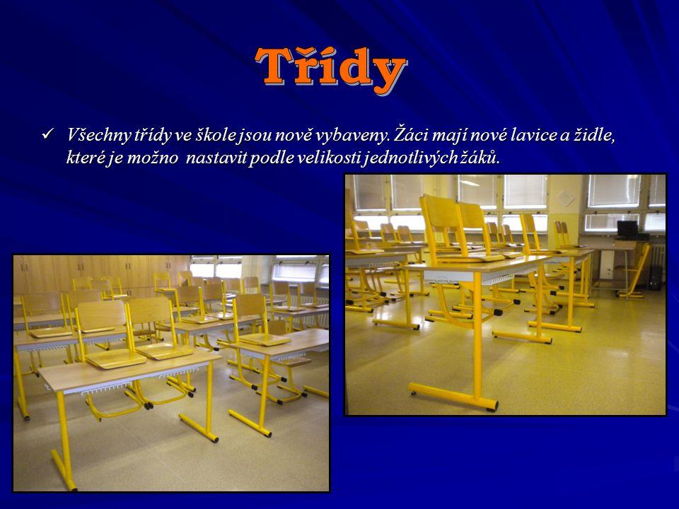 Třídy Všechny třídy ve škole jsou nově vybaveny.