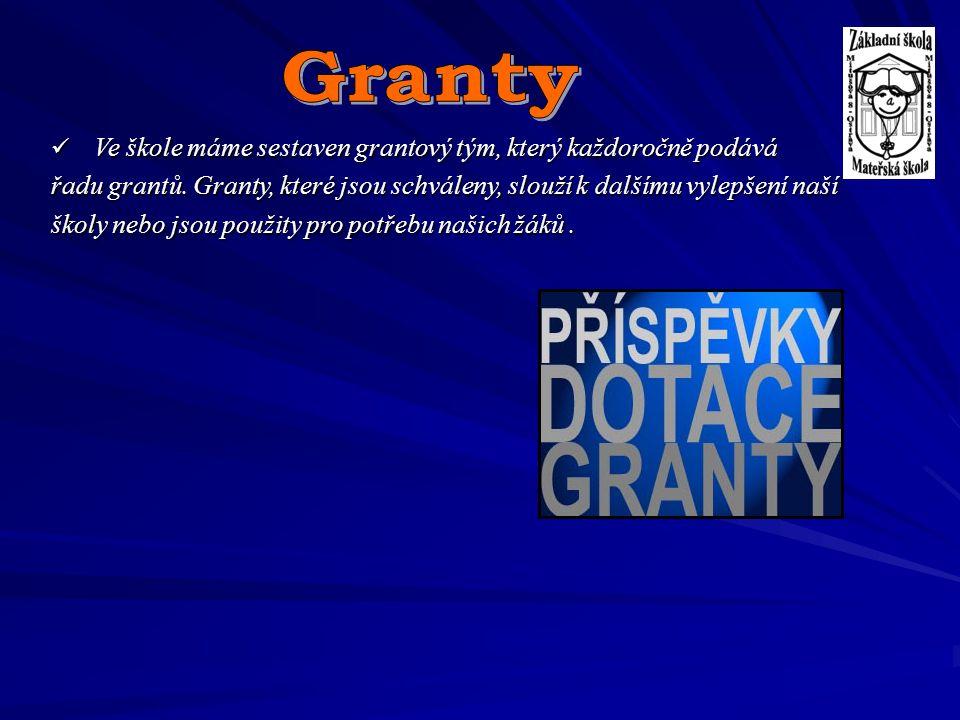 Granty Ve škole máme sestaven grantový tým, který každoročně podává