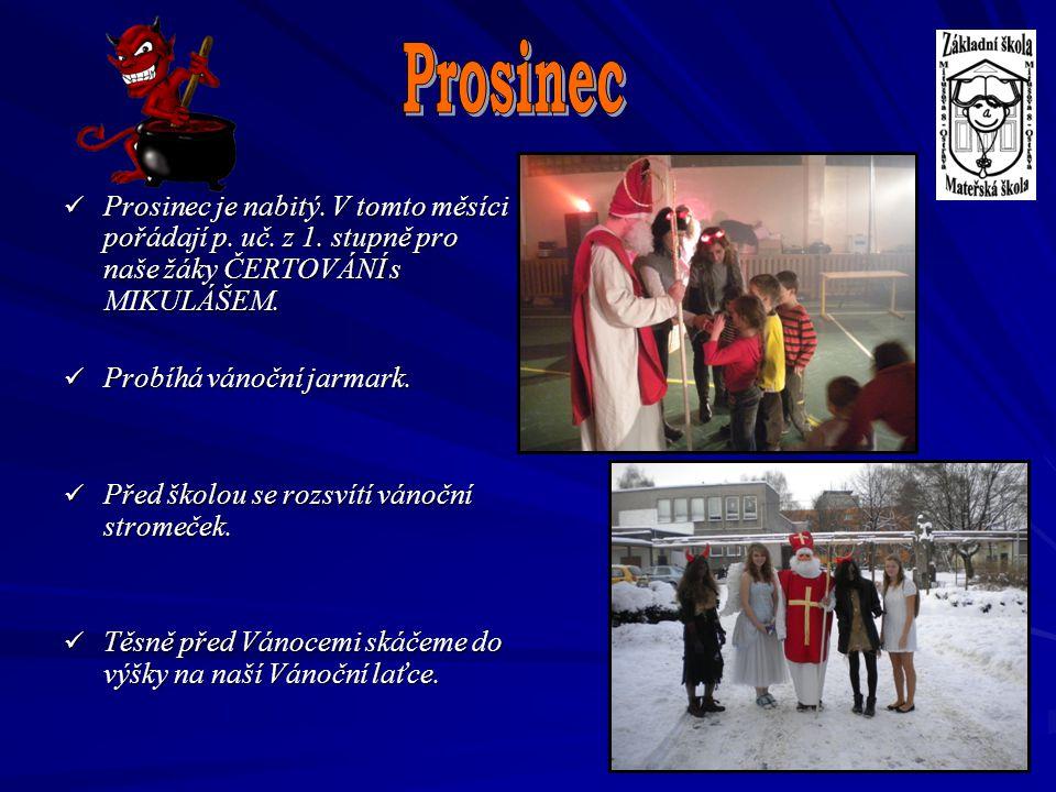 Prosinec Prosinec je nabitý. V tomto měsíci pořádají p. uč. z 1. stupně pro naše žáky ČERTOVÁNÍ s MIKULÁŠEM.