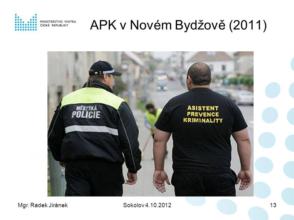 APK v Novém Bydžově (2011) Mgr. Radek Jiránek Sokolov 4.10.2012