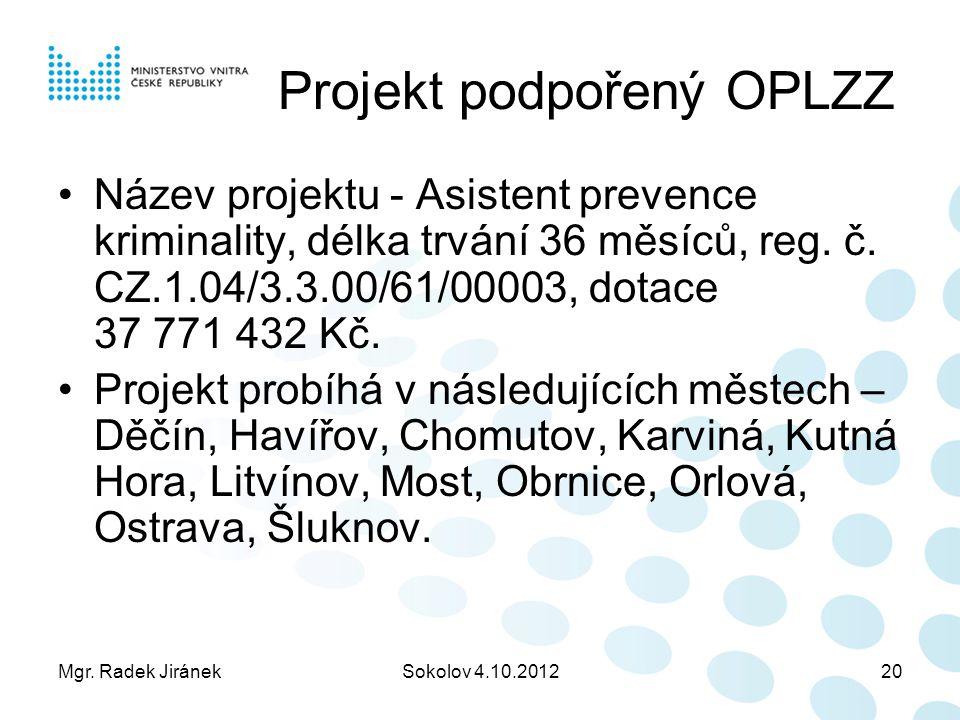 Projekt podpořený OPLZZ