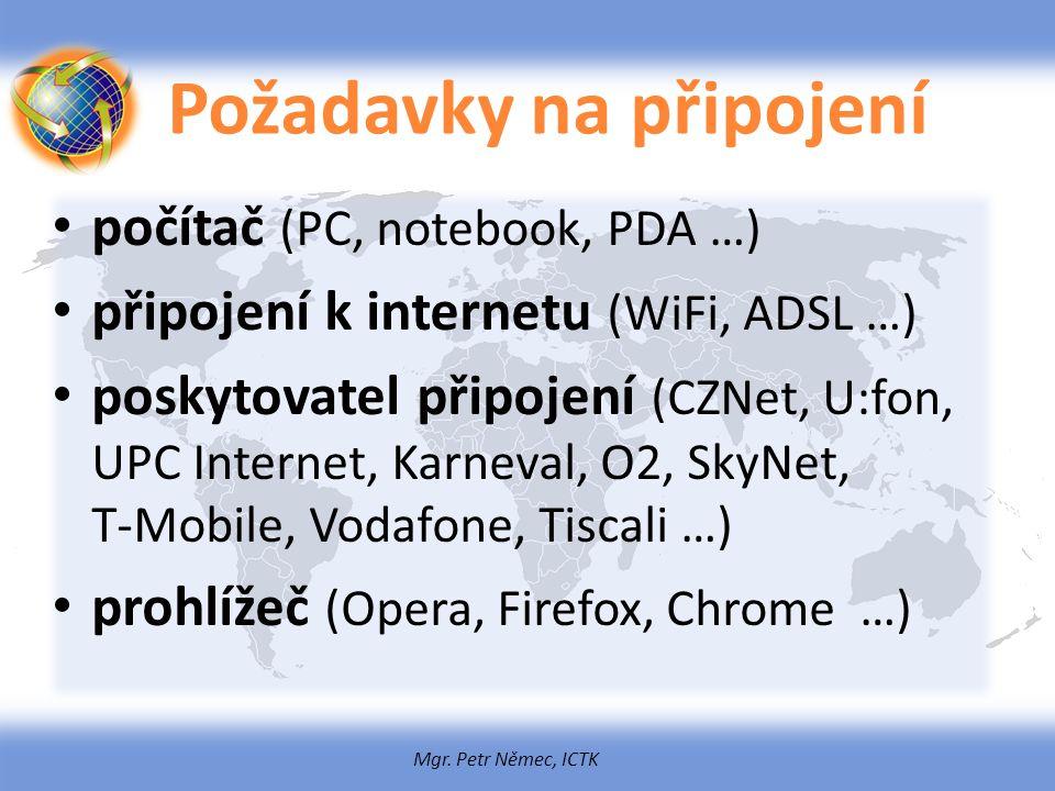 Požadavky na připojení