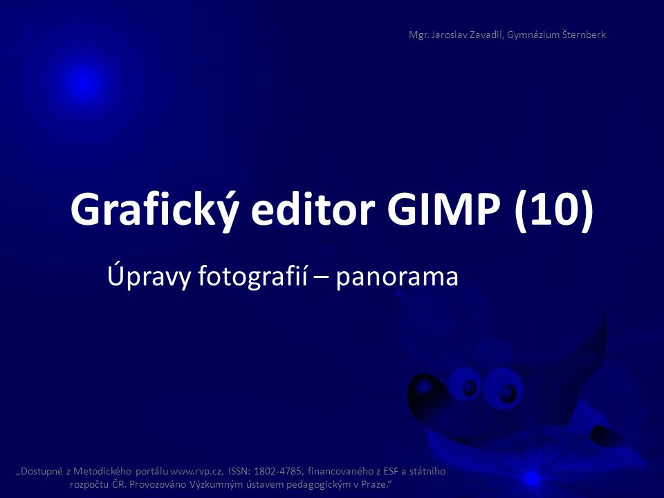 Grafický editor GIMP (10)