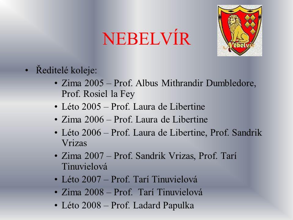 NEBELVÍR Ředitelé koleje: