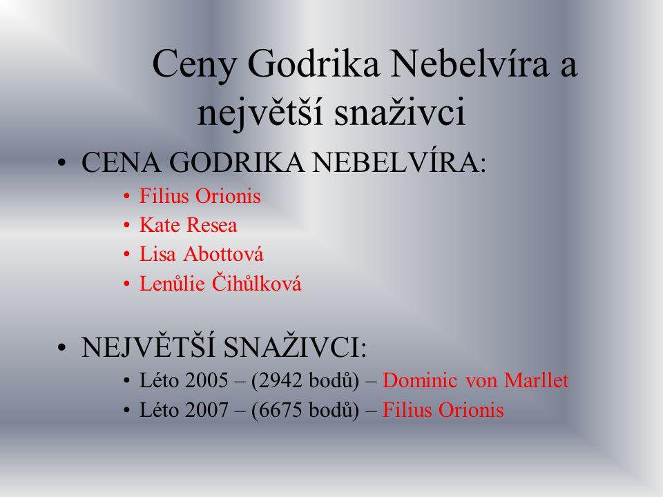 Ceny Godrika Nebelvíra a největší snaživci
