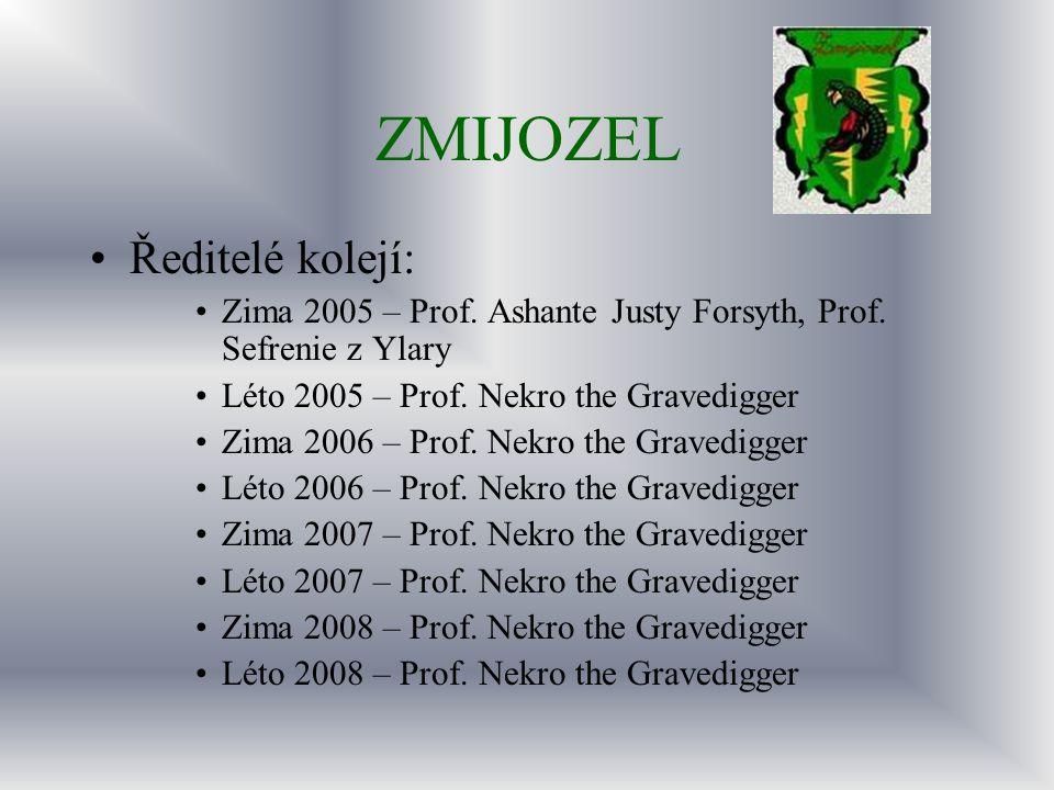 ZMIJOZEL Ředitelé kolejí: