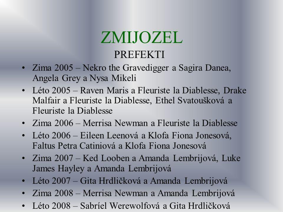 ZMIJOZEL PREFEKTI. Zima 2005 – Nekro the Gravedigger a Sagira Danea, Angela Grey a Nysa Mikeli.