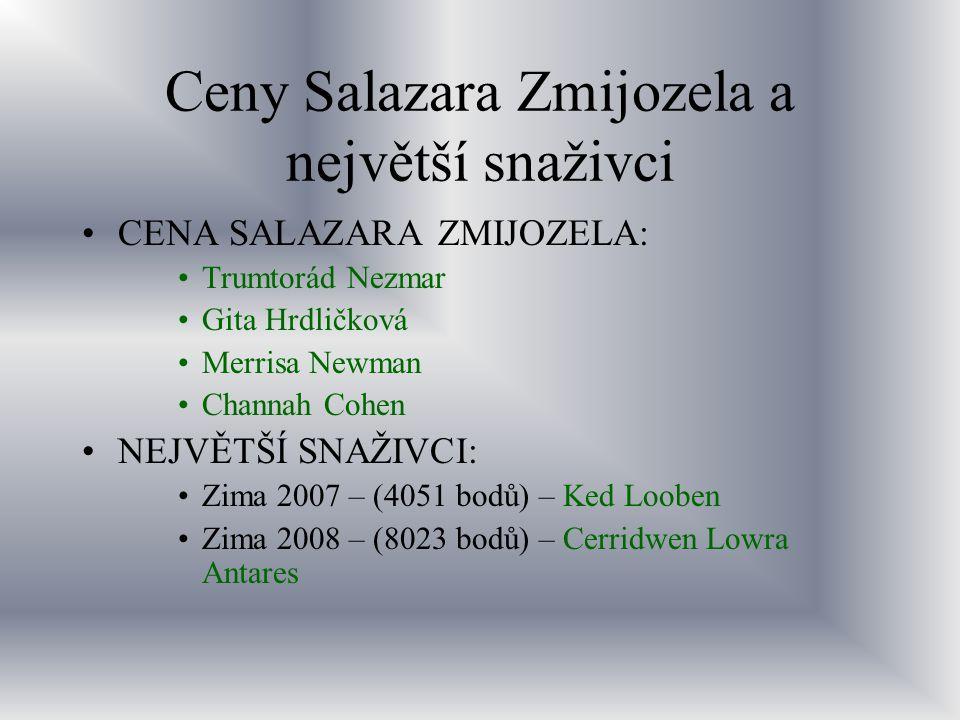 Ceny Salazara Zmijozela a největší snaživci