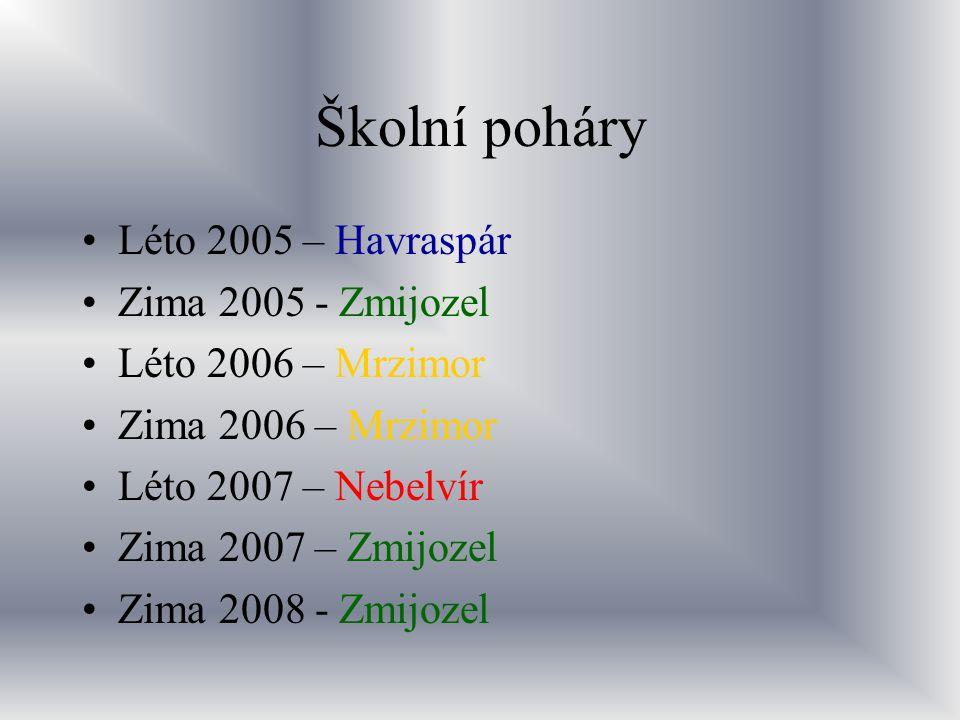Školní poháry Léto 2005 – Havraspár Zima 2005 - Zmijozel