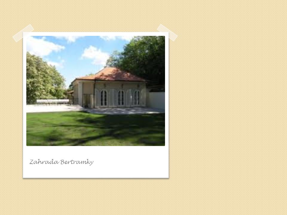 Zahrada Bertramky