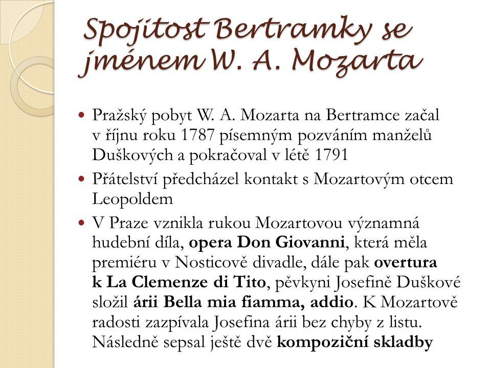 Spojitost Bertramky se jménem W. A. Mozarta