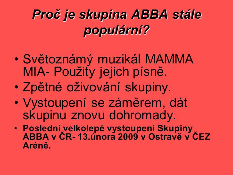 Proč je skupina ABBA stále populární