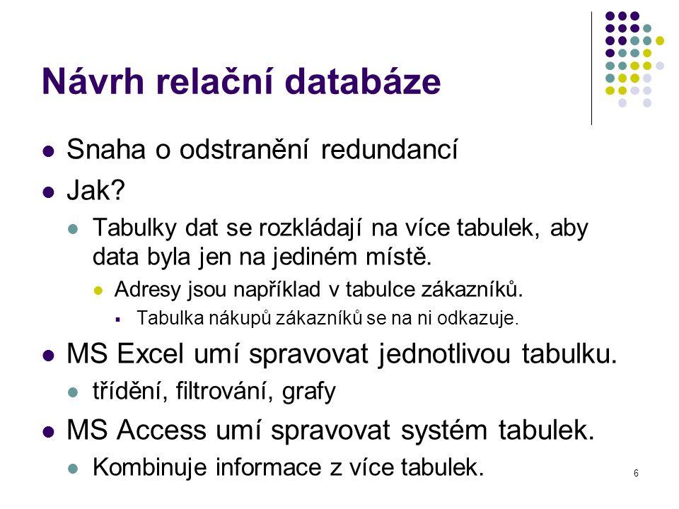 Návrh relační databáze