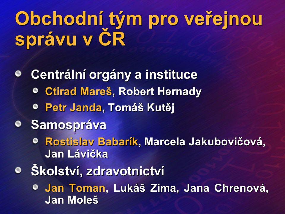 Obchodní tým pro veřejnou správu v ČR