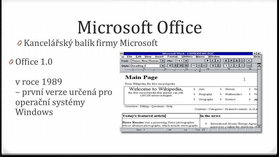 Microsoft Office Kancelářský balík firmy Microsoft