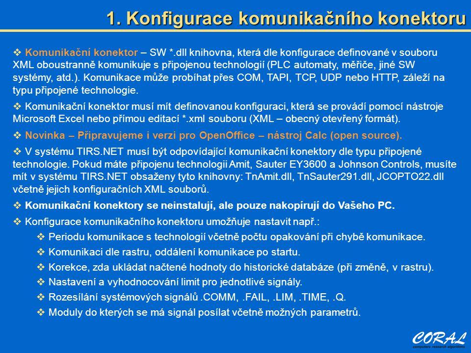 1. Konfigurace komunikačního konektoru