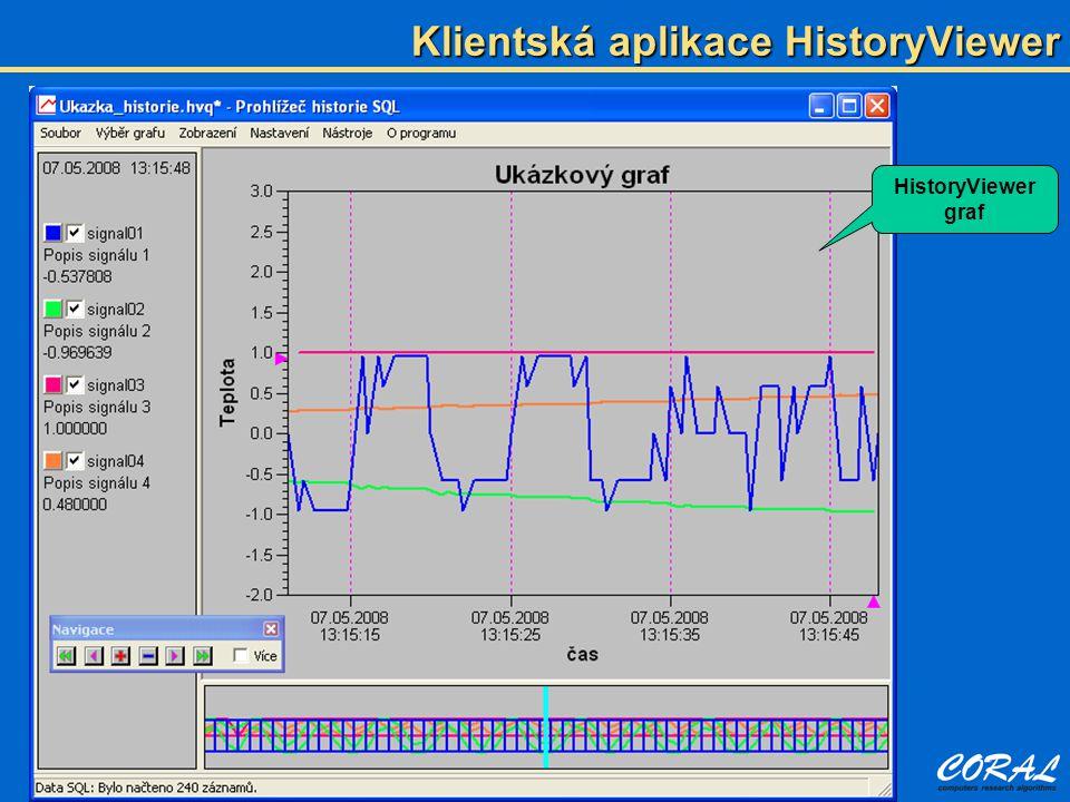 Klientská aplikace HistoryViewer