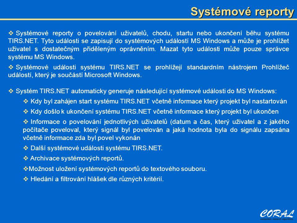 Systémové reporty