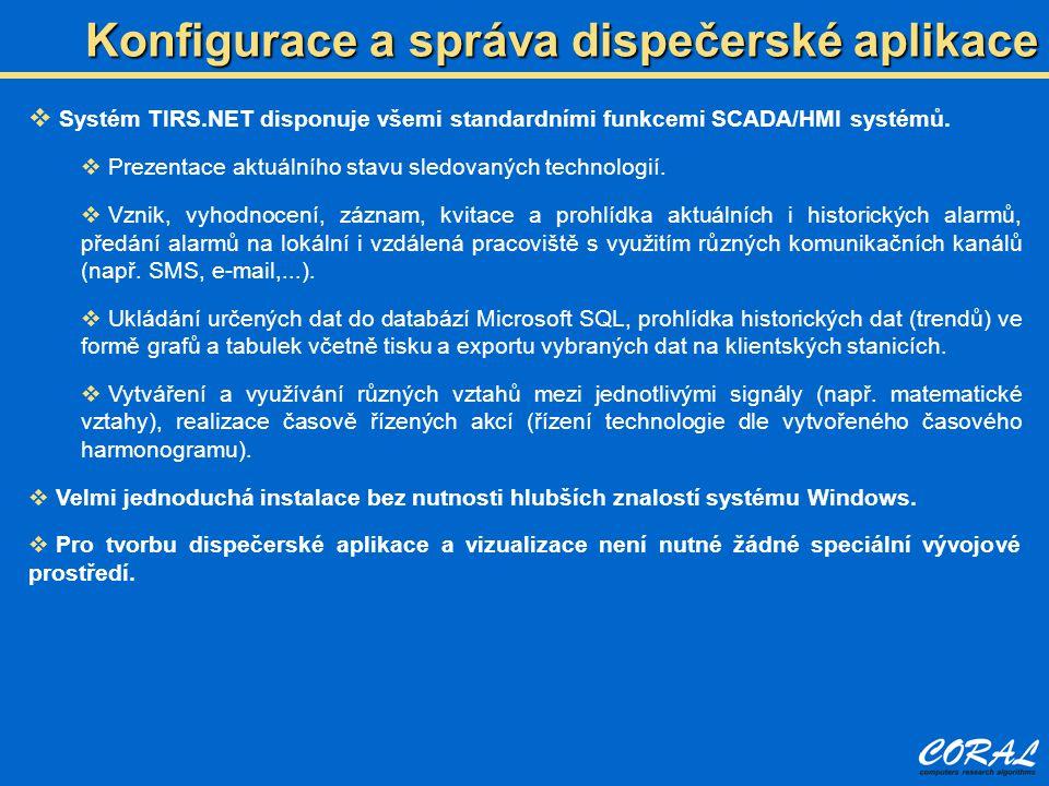 Konfigurace a správa dispečerské aplikace