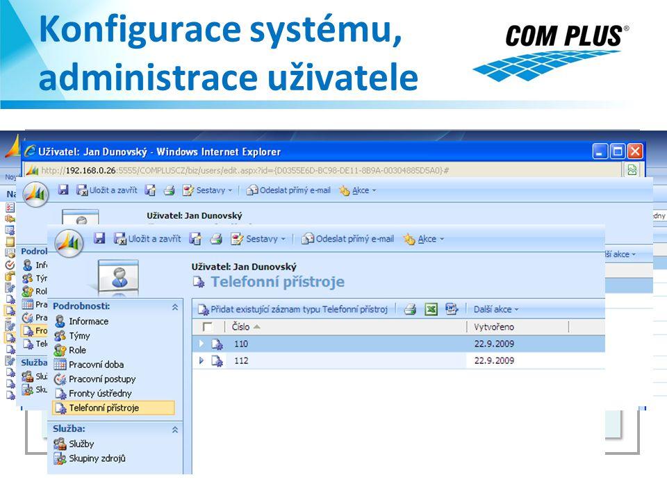 Konfigurace systému, administrace uživatele