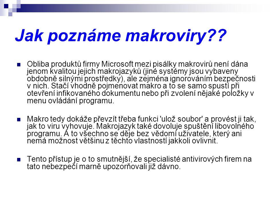 Jak poznáme makroviry