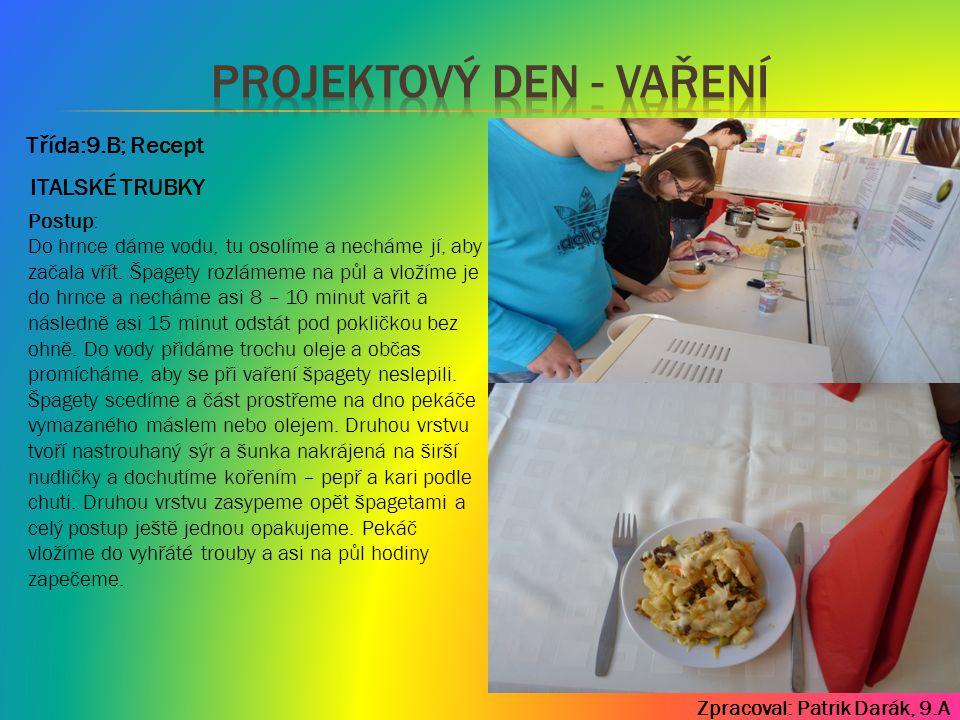 Projektový den - vaření