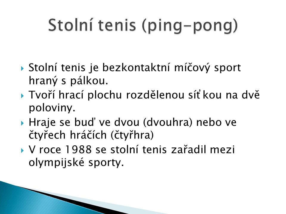 Stolní tenis (ping-pong)