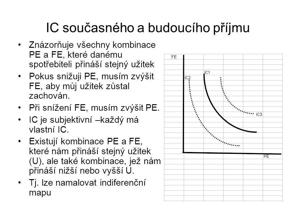 IC současného a budoucího příjmu