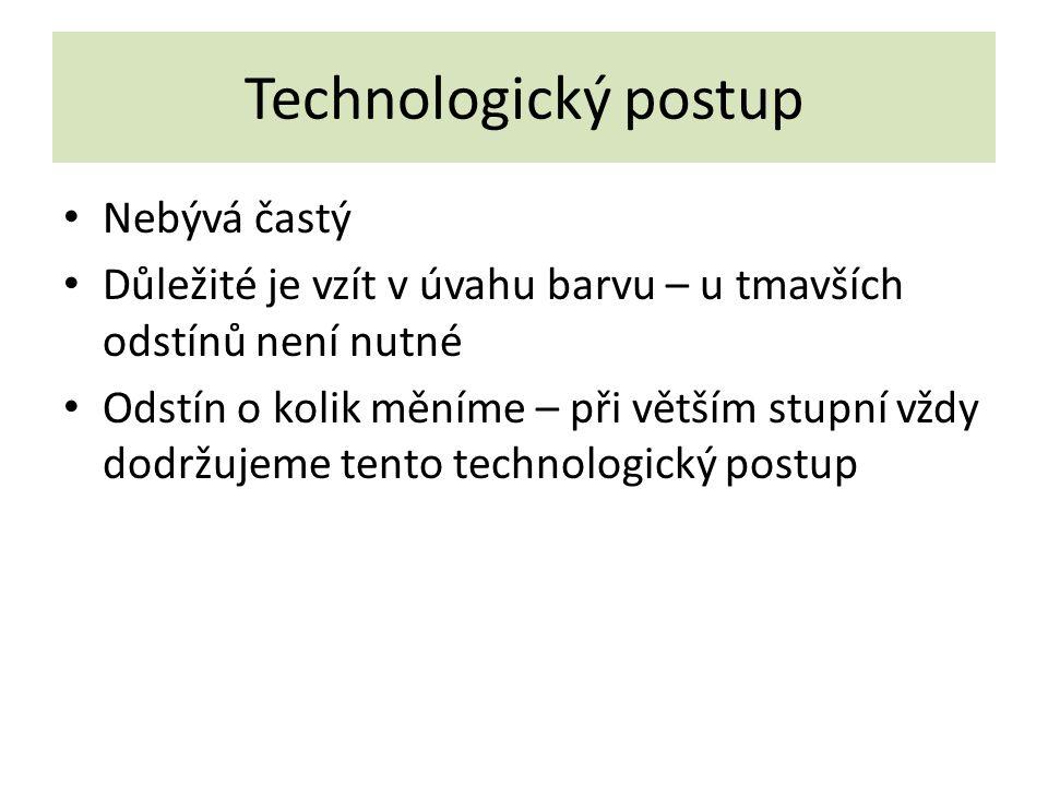 Technologický postup Nebývá častý