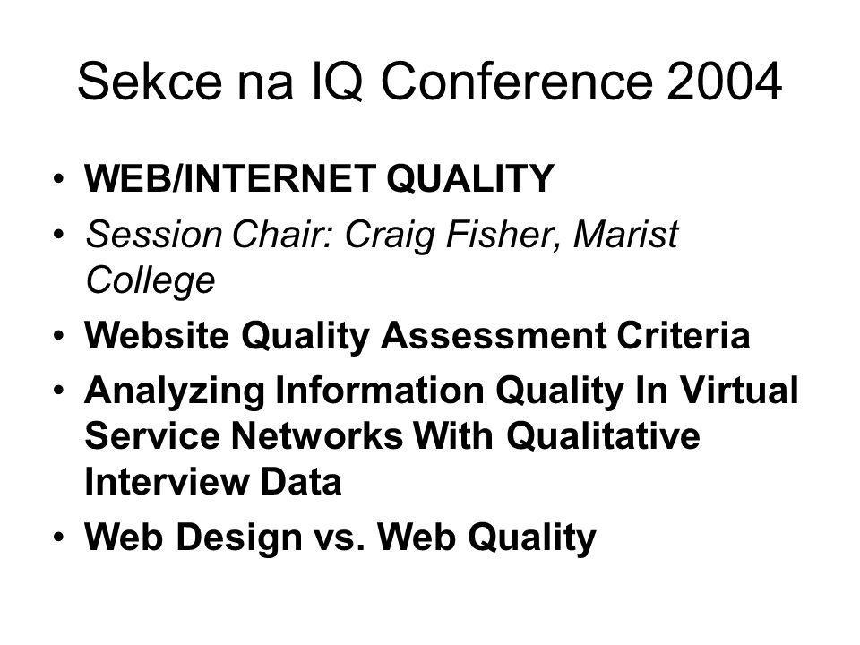 Sekce na IQ Conference 2004 WEB/INTERNET QUALITY
