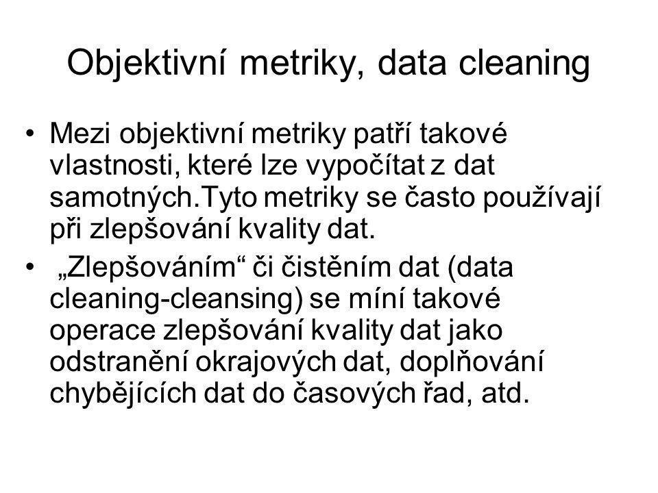 Objektivní metriky, data cleaning