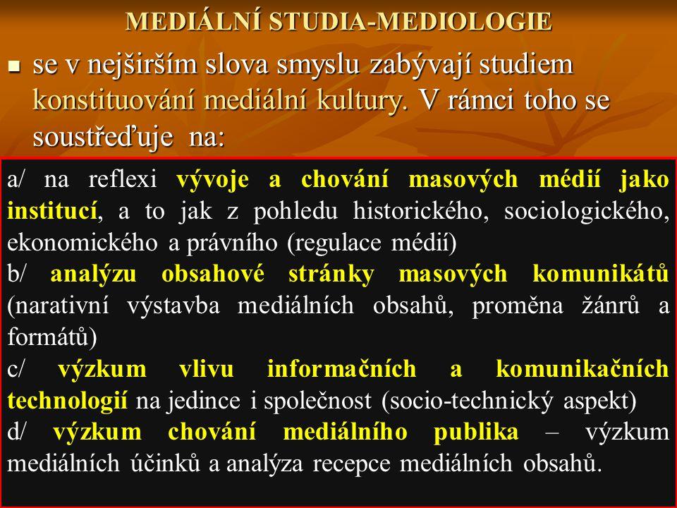 MEDIÁLNÍ STUDIA-MEDIOLOGIE