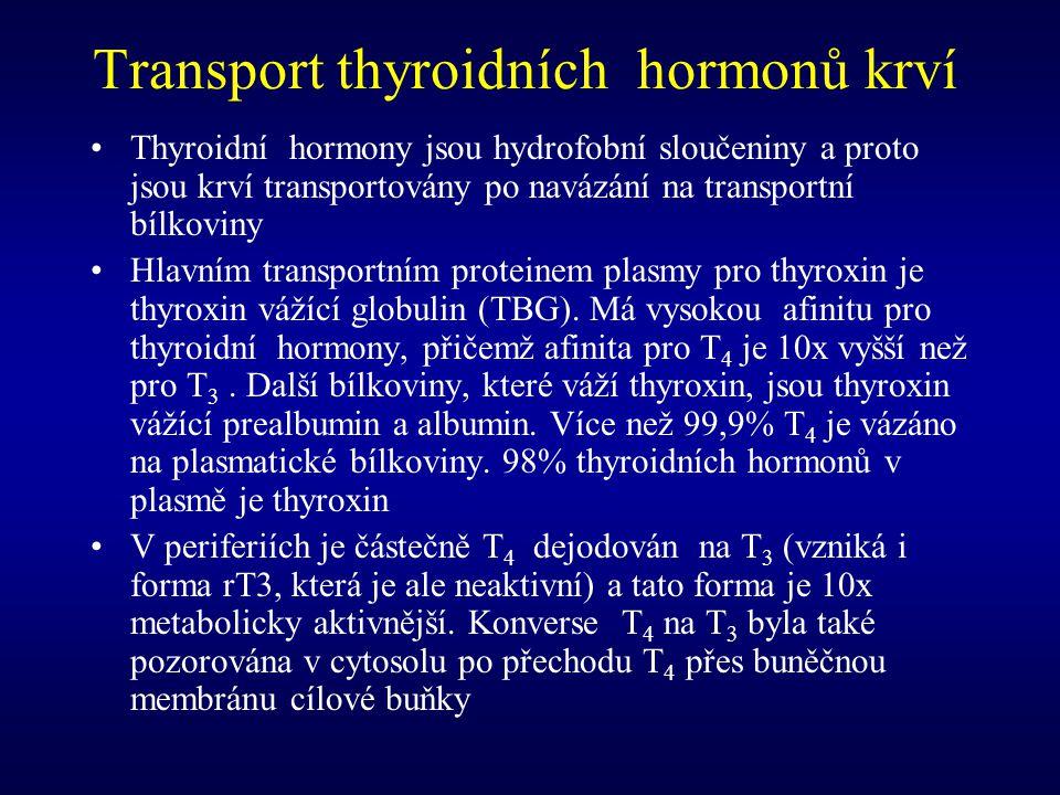 Transport thyroidních hormonů krví