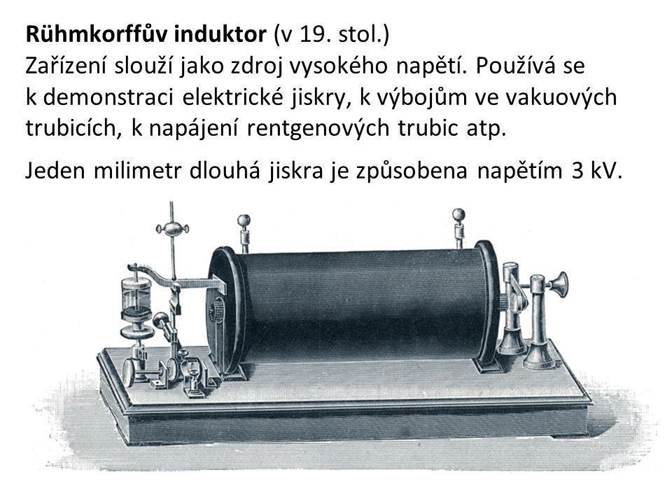 Rühmkorffův induktor (v 19. stol.)