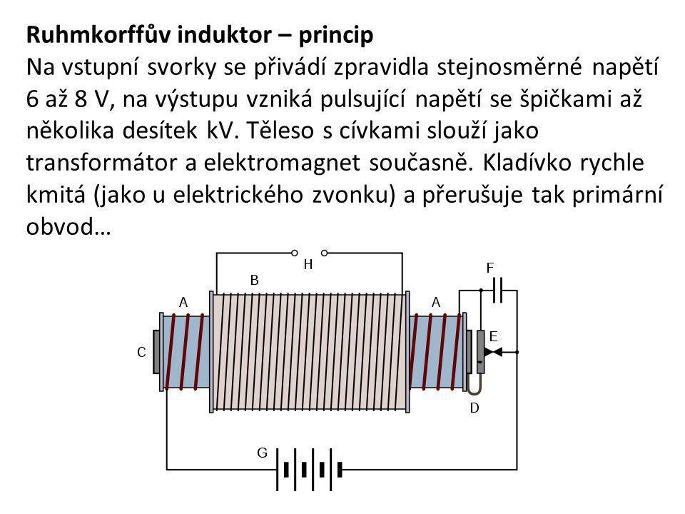 Ruhmkorffův induktor – princip