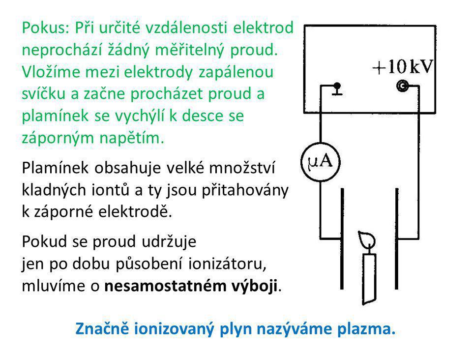Značně ionizovaný plyn nazýváme plazma.