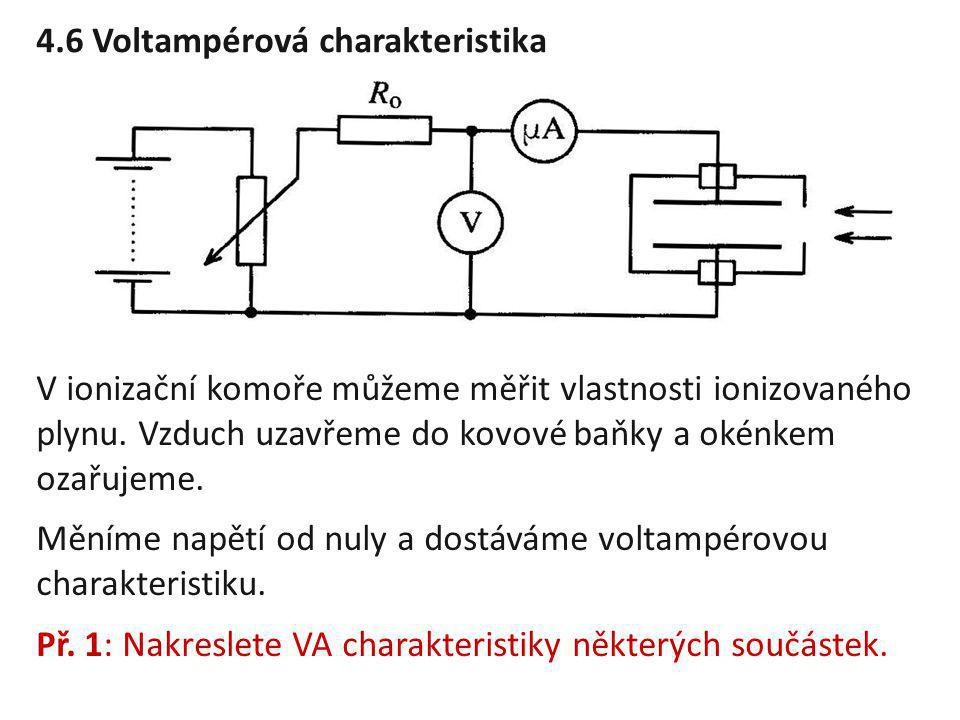 4.6 Voltampérová charakteristika
